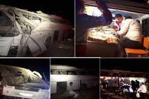 واژگونی اتوبوس در مهریز پنج کشته و 23 زخمی بر جا گذاشت