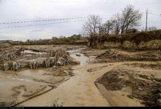 خروش و خرابی های سیلاب در استان بدون پل خراسان شمالی
