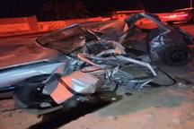 واژگونی پژو 405 درمحور دیر-بوشهر 3کشته و مصدوم برجا گذاشت