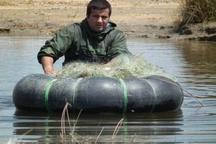 جمع آوری تورهای ماهیگیری غیر مجاز در زاینده رود 10 درصد افزایش یافت