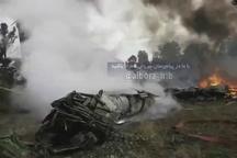 محل وقوع سانحه سقوط هواپیما در فرودگاه فتح