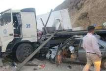 برخورد چهار سواری و 2 کامیون در محور رودبار به منجیل