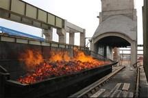 تخلیه ریلی مواد معدنی در کارخانه فولاد بوتیا کرمان آغاز شد