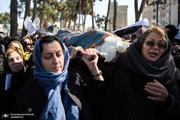 مراسم خاکسپاری پوران شریعت رضوی در امامزاده عبدالله شهرری