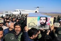 سرباز شهید وطن به اردبیل بازگشت