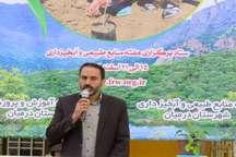 اجرای طرح نهالکاری در13 هکتار عرصه های بیابانی شهرستان درمیان