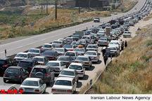 ترافیک نیمه سنگین در باند جنوبی آزاد راه تهران - کرج