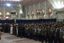 ادای احترام 3 هزار نفر از کارکنان سپاه محمد رسول الله (ص) تهران به امام راحل