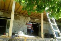 مرمت خانه تاریخی معین الدین در روستای اندج آغاز شد