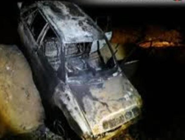 خودرو پراید درجاده پلدختر - دره شهر دچار آتش سوزی شد