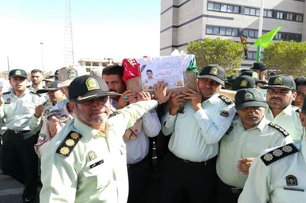 پیکر شهید نظم و امنیت در اهواز تشییع شد