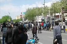 جمعی از کشاورزان شرق اصفهان خواهان  حقابه خود شدند