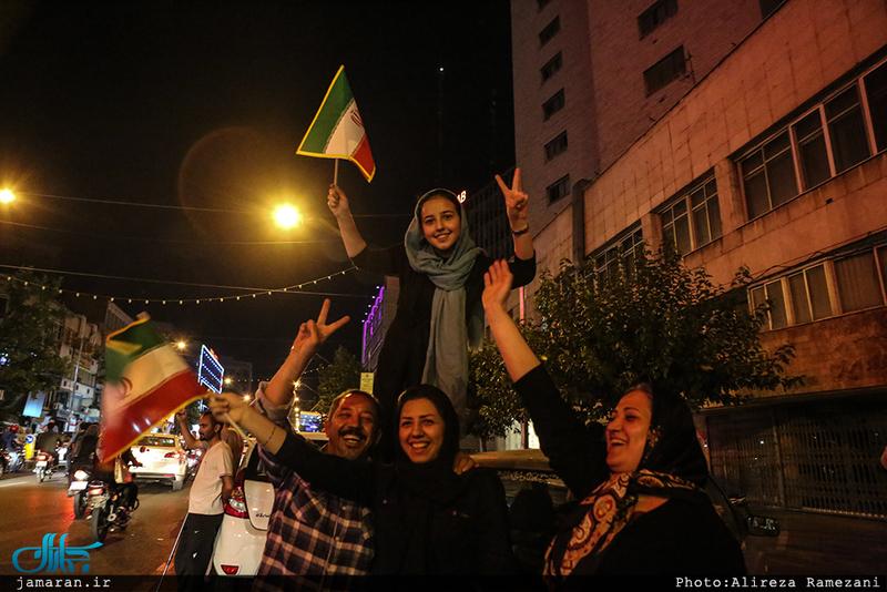 شادی مردم بعد از صعود به جام جهانی
