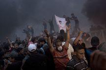 127 شهید و زخمی در تظاهرات غزه+ تصاویر