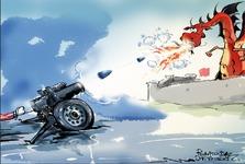 کاریکاتور/آمریکا چین را تهدید به جنگ سرد کرد