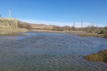 آب در رودخانه قوروچای میاندوآب جاری شد