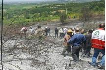 مهار آتش سوزی اراضی کشاورزی قائمشهر پیش از رسیدن به جنگل