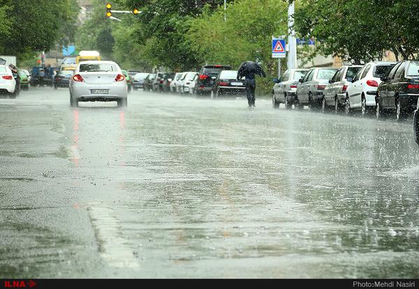 ادامه بارندگی در 10 استان کشور
