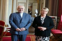 دیدار و گفت و گوی ظریف با وزیر خارجه سوئد