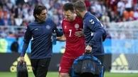 بازیکن دانمارک ادامه جام جهانی را از دست داد