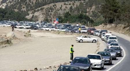 ترافیک در مسیر شمال به جنوب جاده چالوس سنگین است