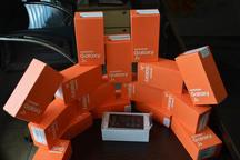 34 گوشی تلفن همراه قاچاق در سقز کشف شد