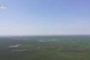 تصاویر هوایی از پر شدن هورالعظیم در هر دو سوی مرز ایران وعراق