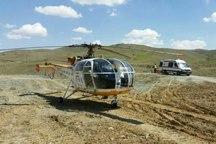 مصدوم بدحال با بالگرد اورژانس کردستان به بیمارستان منتقل شد
