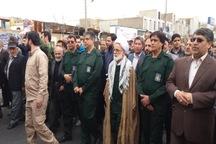 راهپیمایی حمایت از سپاه پاسداران در استان مرکزی برگزار شد