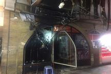 مهار یک آتش سوزی پیش از فوران گسترده دریک بازارچه کرج