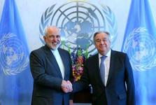 دیدار و گفت و گوی ظریف با دبیرکل سازمان ملل
