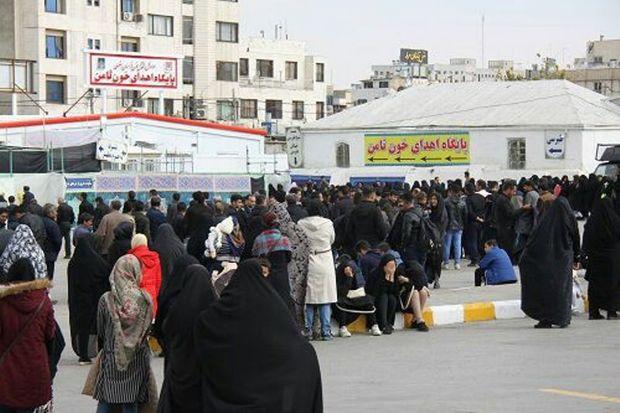 داوطلبان اهدای خون در مشهد حضور قابل توجهی داشتند