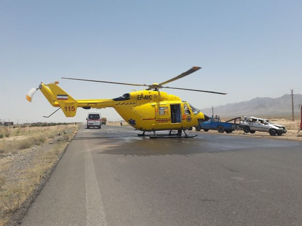 اورژانس هوایی 6 مصدوم جاده ای را به کرج انتقال داد
