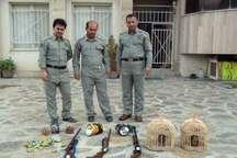 6 شکارچی متخلف در سروآباد دستگیری شدند