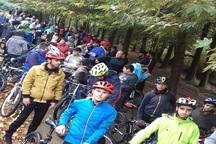همایش مشترک پیاده روی و دوچرخه سواری در مهاباد برگزار شد