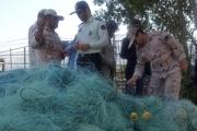 توقیف لنج صیادی با 2 تن صید غیر مجاز انواع ماهی در کیش