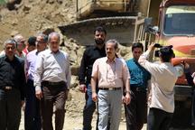 بازدید رئیس سازمان مدیریت و برنامهریزی گیلان از مناطق سیل زده اشکورات رودسر