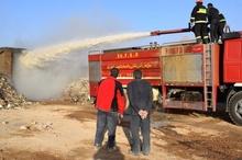 آتشسوزی در انبار ضایعات کشوک شهرکرد  بروز خسارت یک میلیارد تومانی