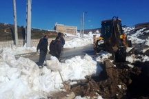 شبکه آب روستایی سمنان 20 میلیارد ریال از برف خسارت دید