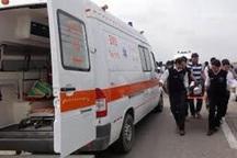 10 نفر در دو سانحه رانندگی مجروح شدند