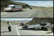 واژگونی  خودرو از مهمترین دلایل سوانح جاده ای در گناباد و بجستان است
