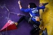 نماینده هرمزگان بر سکوی سوم رقابت های سنگنوردی بانوان کشور ایستاد