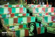 مراسم شب وداع با 135شهید گمنام دفاع مقدس + تصاویر