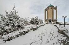 همدان سردترین نقطه کشور  دمای پایتخت 12 درجه زیر صفر  بارش برف در مناطق شرقی کشور