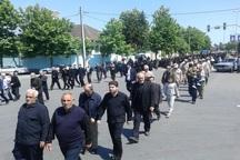 مردم آستارا در سالروز ارتحال امام (ره) سوگواری خیابانی کردند