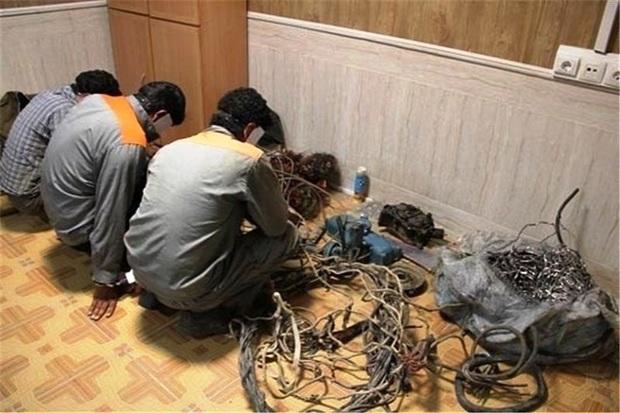 80 کیلوگرم کابل سرقتی در شهرستان البرز کشف شد