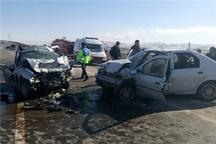 مصدومیت ۱۲ نفر در تصادف محور یاسوج به اصفهان