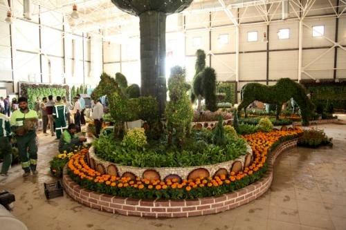 آغاز به کار هجدهمین نمایشگاه بین المللی گل و گیاه مشهد