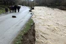 سیلاب به راه های خراسان شمالی خسارت زد