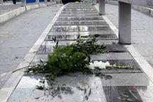 مراسم گل افشانی مزار شهدای قزوین برگزار شد